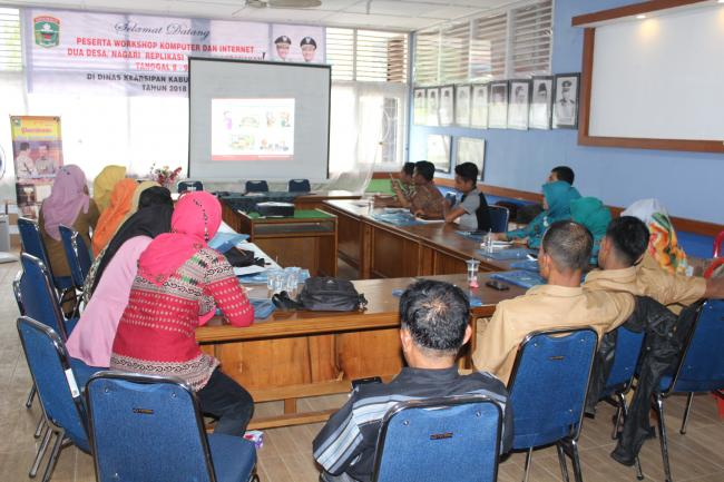 WORKSHOP KOMPUTER DAN INTERNET (TIK) DESA REPLIKASI TAHUN 2018